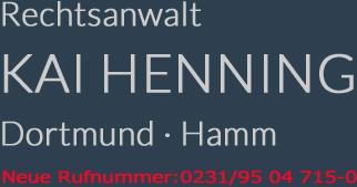 Rechtsanwalt Kai Henning